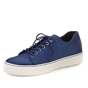Stuart Weitzman Holistic Satin Low-Top Sneakers